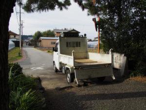 御塩護送のための軽トラック、御塩殿神社(皇大神宮 所管社)