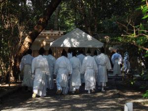 川原大祓・遷御のリハーサル、高河原神社(豊受大神宮 摂社)