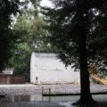 予想が外れ今日も簀屋根が掛けられていた八尋殿、神麻続機殿神社 (皇大神宮 所管社)