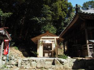 最近に建てられた元興玉社の拝殿、太江寺(伊勢市二見町江)