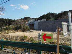 池の浦橋の架替え工事が進む国道42号(伊勢市二見町松下)