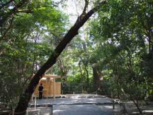 古殿が姿を消した高河原神社(豊受大神宮 摂社)