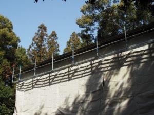 今週も簀屋根が掛けられていた八尋殿、神麻続機殿神社 (皇大神宮 所管社)