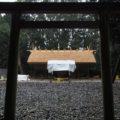 簀屋根が取り外され修繕後の姿を現した八尋殿、神麻続機殿神社 (皇大神宮 所管社)