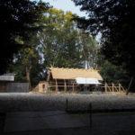 八尋殿は玉垣の工事中、神麻続機殿神社(皇大神宮 所管社)