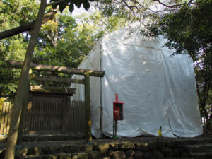 造替工事は終盤を迎えた志宝屋神社(豊受大神宮 末社)