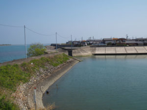 御祓橋跡(宮川と大湊川の合流点)付近