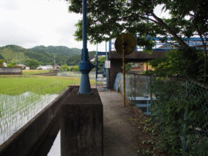 津田土地改良区の取水堰付近(多気町丹生)