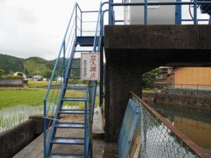 津田土地改良区の取水堰(多気町丹生)