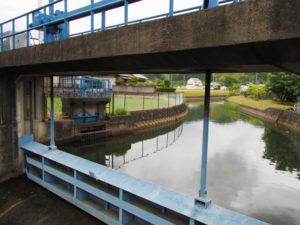 津田[土地改良区の]用水の取水口(多気町丹生)