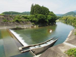 南勢水道津留取水堰(櫛田川)(多気町津留)