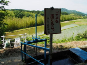 津田[土地改良区の]用水にて(多気町津留)