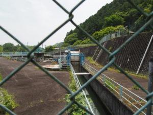 南勢水道沈砂池(多気町鍬形)