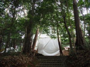 玉垣が建てられた棒原神社(皇大神宮 摂社)