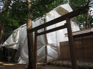 殿舎の修繕工事は終了?、棒原神社(皇大神宮 摂社)