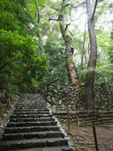 伊我理神社(豊受大神宮 末社)の石階