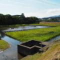 五十鈴川の塩水で満たされていた御塩浜(伊勢市二見町西)