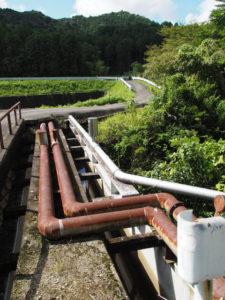 立梅用水、中切橋(朝柄川)付近