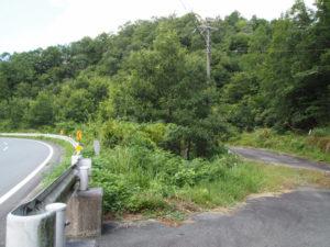 国道368号から離れる和歌山別街道(多気町朝柄)