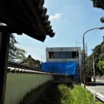旧豊宮崎文庫の表門付近から眺めた解体工事現場