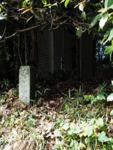 仮設トイレが設置されていた久具都比賣神社(皇大神宮 摂社)