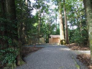 仮殿が設営された久具都比賣神社(皇大神宮 摂社)