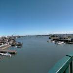 一色大橋から望む勢田川の河口方向(パノラマ)