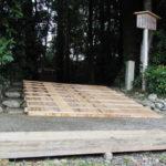 修繕工事が開始された久具都比賣神社(皇大神宮 摂社)