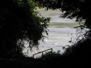 久具都比賣神社(皇大神宮 摂社)の裏を流れる宮川
