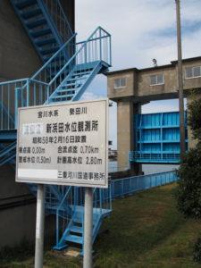 勢田川新浜田水位観測所付近
