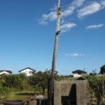 木製の電柱(伊勢市御薗町小林)