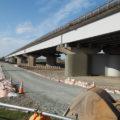 耐震補強工事が進められている宮川大橋