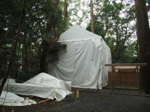 今も簀屋根が掛けられていた久具都比賣神社(皇大神宮 摂社)