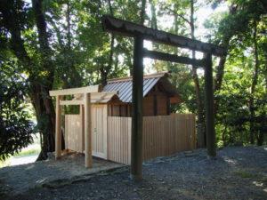設営されていた仮殿、田上大水神社・田上大水御前神社(豊受大神宮 摂社)