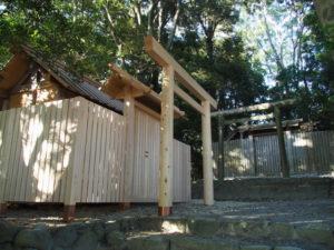 仮殿が設営されていた田上大水神社・田上大水御前神社(豊受大神宮 摂社)