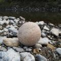 丸い石探し、宮リバー度会パークの河原(宮川)