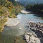 桑瀬橋から櫛田川上流方向の遠望