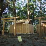 鳥居が建て替えられた久具都比賣神社(皇大神宮 摂社)