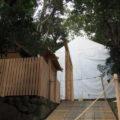 簀屋根が掛けられた田上大水神社・田上大水御前神社(豊受大神宮 摂社)
