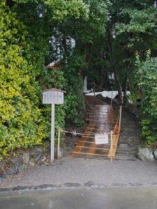 修繕工事中の田上大水神社・田上大水御前神社(豊受大神宮 摂社)