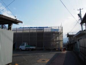 麻吉旅館では屋根の修繕工事(伊勢市中之町)