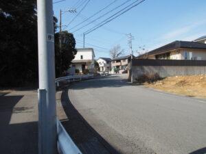 五十鈴中学校へと続く坂道(伊勢市中村町)