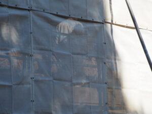 修繕工事中の八尋殿、神服織機殿神社(皇大神宮 所管社)