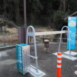 太平洋岸自転車道「M01 二見駐車場」には空気入れ完備、音無山駐車場(伊勢市二見町茶屋)
