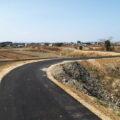 国道42号側もアスファルト舗装されていた中堤(伊勢市通町・一色町)