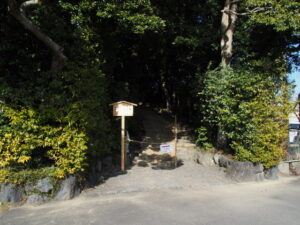 制札が立て替えられた田上大水神社・田上大水御前神社(豊受大神宮 摂社)