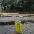 造替工事が進められる神前神社(皇大神宮 摂社)