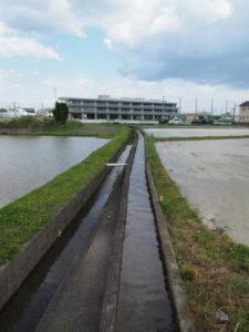 農業用水路(伊勢市馬瀬町と下野町との境界)