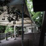 昨夕に仮殿遷座を終えた御食神社(豊受大神宮 摂社)