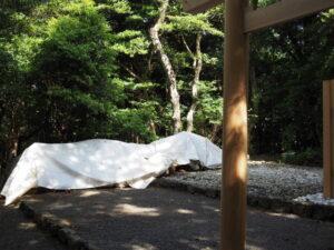 解体された古殿の用材、神前神社(皇大神宮 摂社)